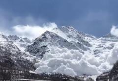 Avalnșă în Munţii Făgăraş