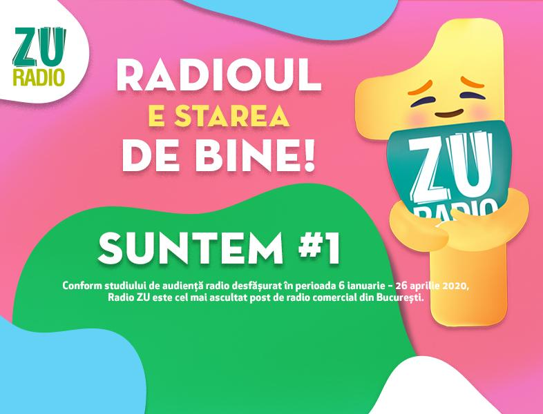 Radio ZU este cel mai ascultat post de radio comercial din București