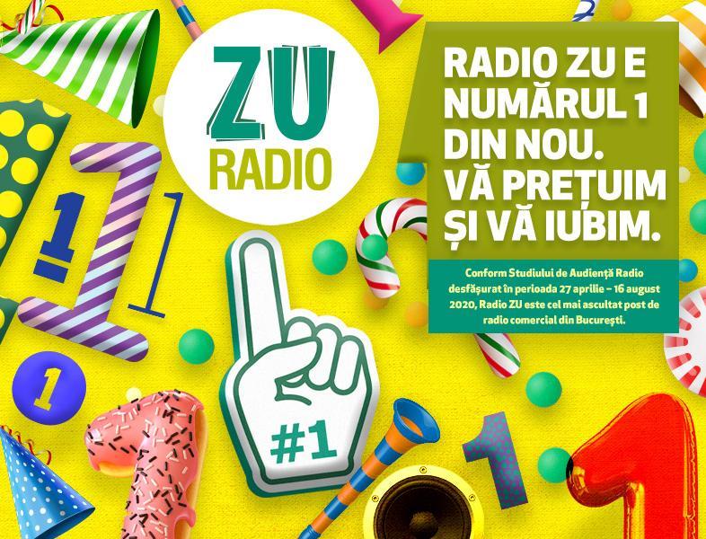 ZU este cel mai ascultat radio comercial din București. Vă mulțumim!