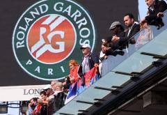 Spectatori în tribune la Roland-Garros