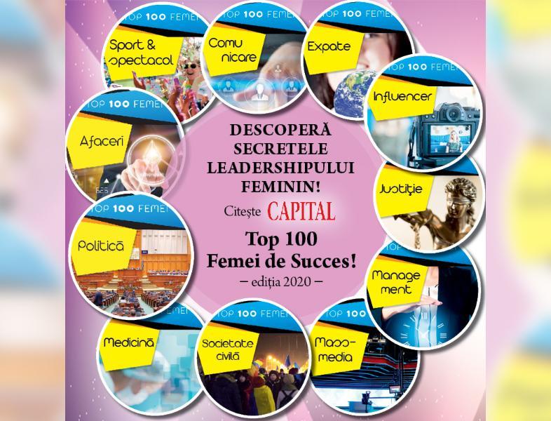 Descoperă secretele leadershipului feminin în România! Revista Capital lansează Top 100 Femei de Succes, ediția 2020!