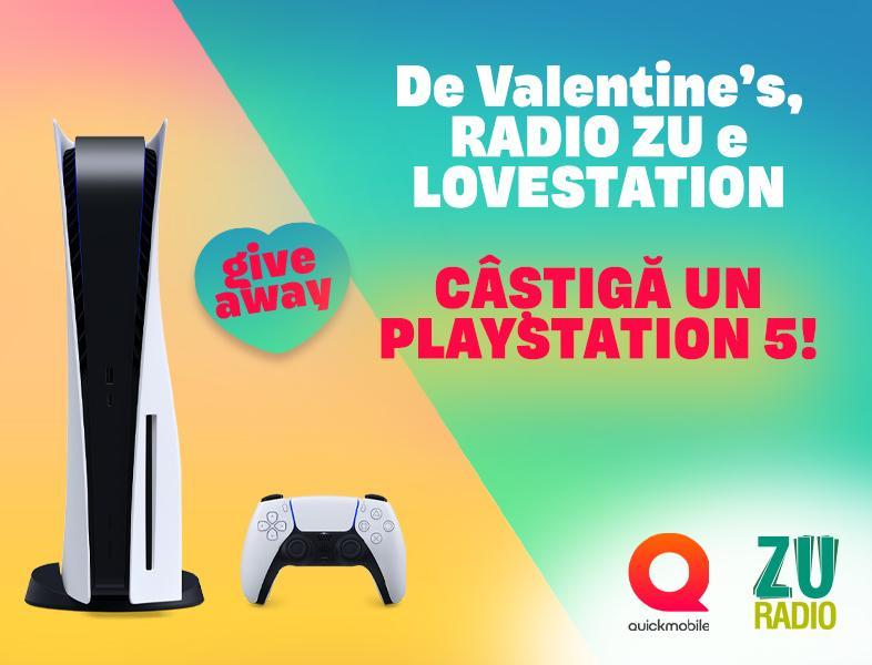 Radio ZU e lovestation. Câștigă noul PlayStation!