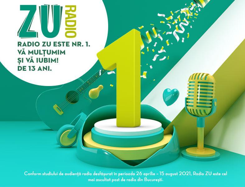 ZU este radioul NUMĂRUL 1 în București