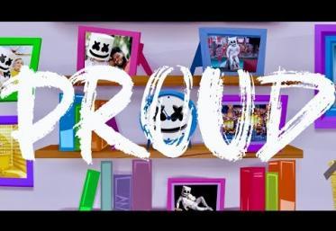 Marshmello - Proud | lyric video