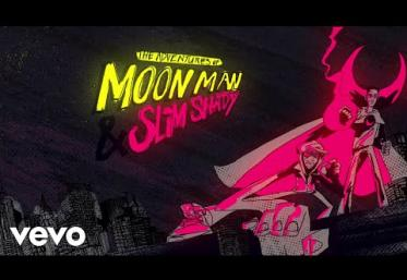Kid Cudi ft. Eminem- The Adventures Of Moon Man & Slim Shady  | Lyric Video