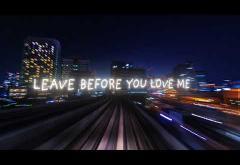 Marshmello x Jonas Brothers - Leave Before You Love Me | lyric video