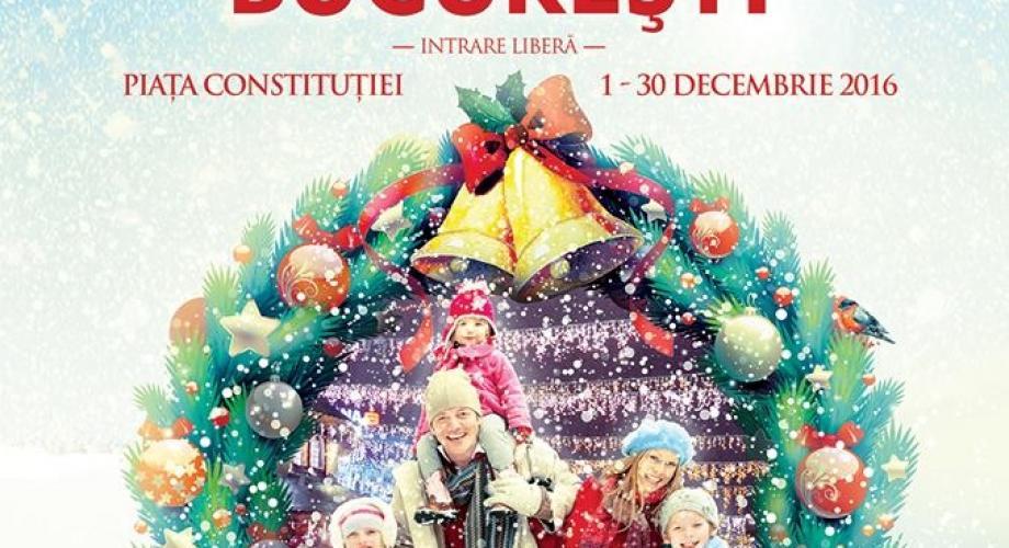 Târgul de Crăciun, în Piața Constituției