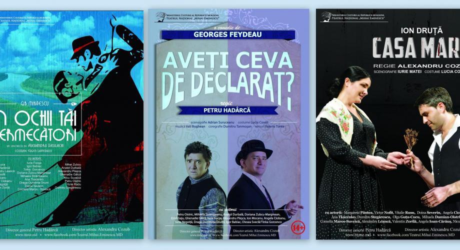 """""""Teatru românesc la Bucureşti, Iaşi şi Chişinău"""""""