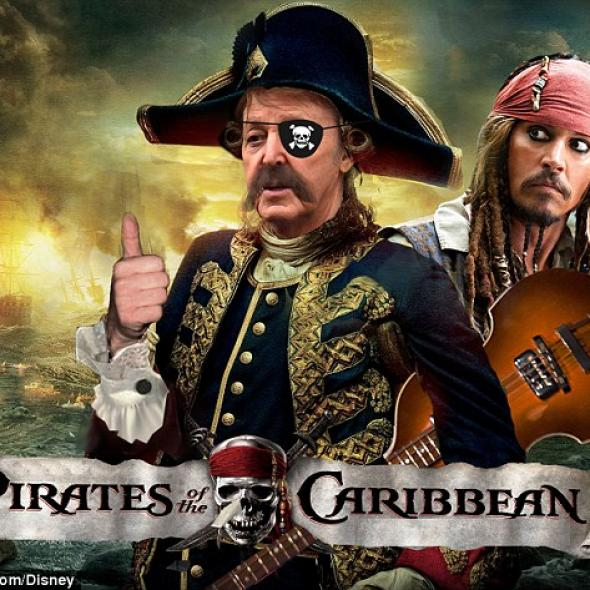 "Paul McCartney & Johnny Depp: noii ""Piraţi din Caraibe"""