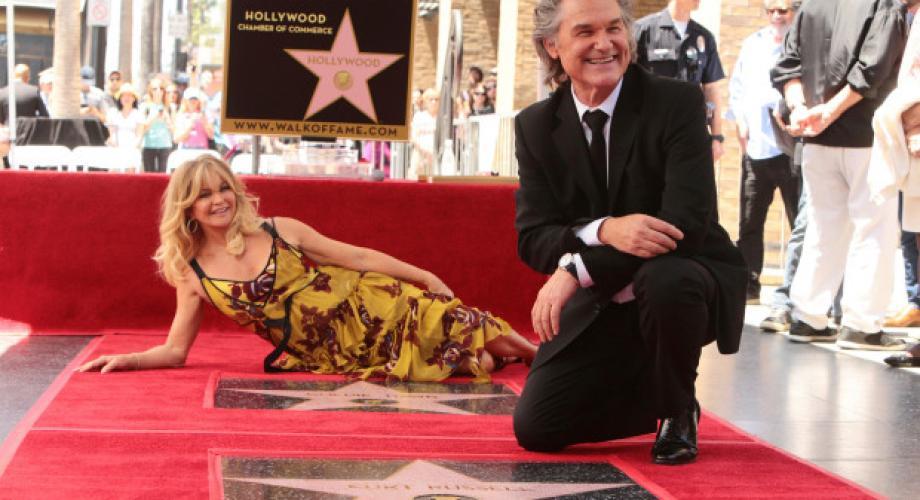 Goldie Hawn și Kurt Russell au câte o stea pe celebrul Walk of Fame
