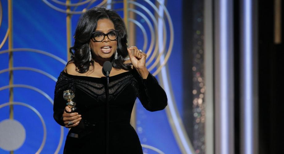 Oprah Winfrey, prima femeie de culoare ce are un Glob de Aur pentru întreaga activitate
