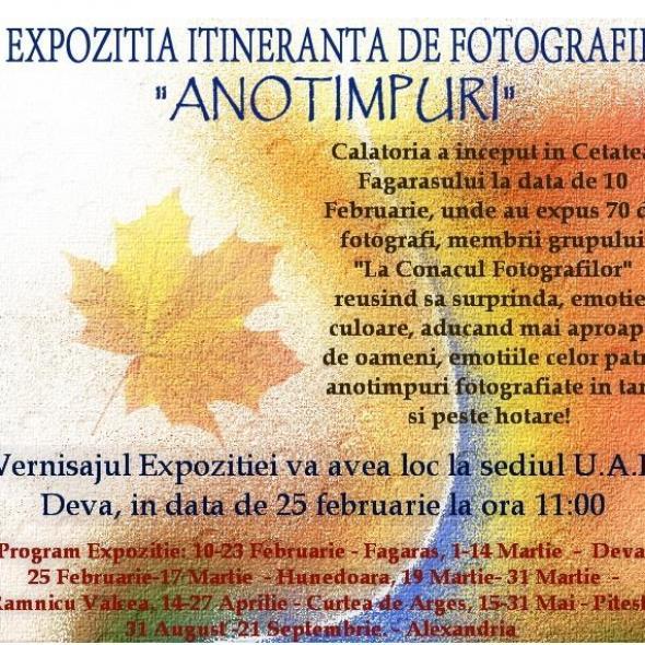 """""""ANOTIMPURI"""" - expoziție itinerantă de fotografie!"""