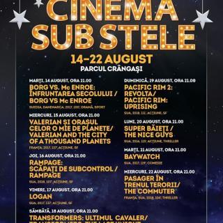 """""""Cinema sub stele"""", în Parcul Crângași"""