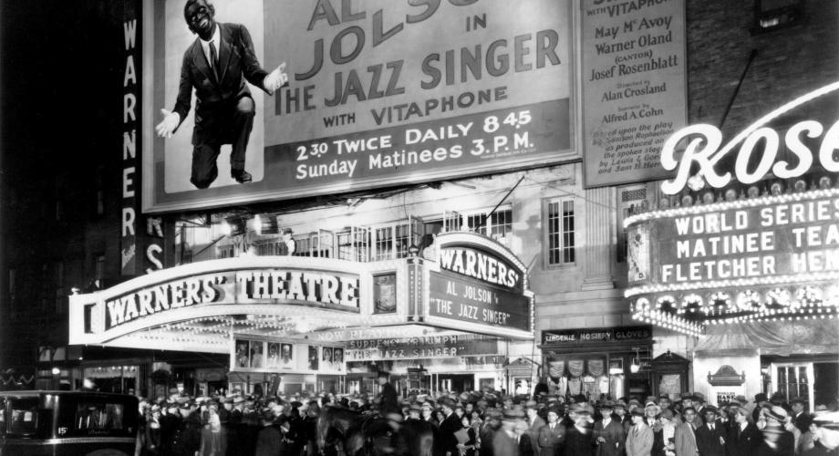 """The Jazz Singer"", primul film sonor din istoria cinematografiei"