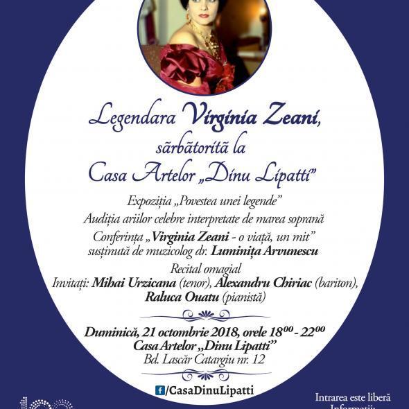 """""""Legendara Virginia Zeani, sărbătorită la Casa Artelor Dinu Lipatti"""""""