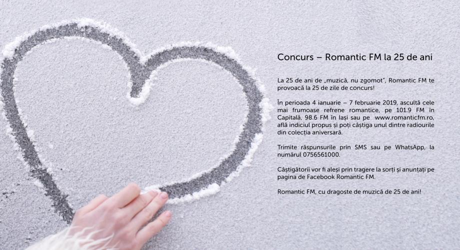 Romantic FM te provoacă la 25 de zile de concurs!