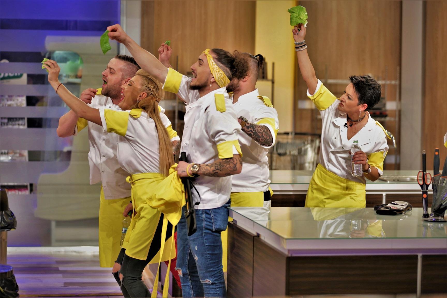 """Chef Scărlătescu și echipa galbenă, victorie detașată în proba desertului. """"Chefi la cuțite"""", lider de piață pe toate categoriile de public"""