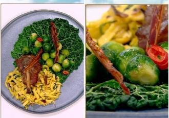 Cum putem prepara o Rețetă simplă din două tipuri de varză cu bacon și spaetzle?