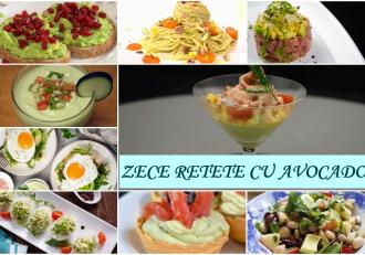 Zece rețete cu avocado simple și gustoase pentru gustări sănătoase