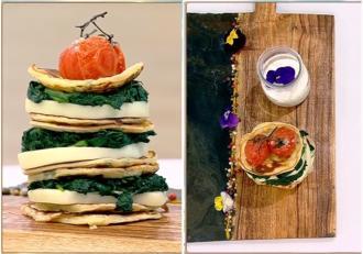 Rețetă de Clătite americane cu spanac și mozzarella -  Rețeta lui Vlăduț