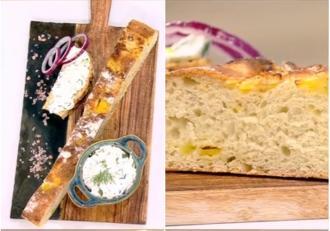 Pâine de casă cu cartofi în aluat și o delicioasă cremă de brânză - Reţeta lui Vlăduţ