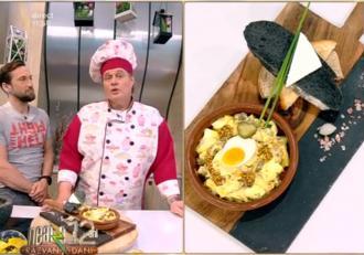 Rețetă de Salată aperitiv de ouă fierte, perfectă pentru mesele sărbătorilor pascale. Reţeta lui Vlăduţ de la Neatza cu Răzvan și Dani