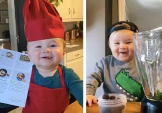 Cel mai mic Chef din lume are doar un an! Ce rețete pregătește puștiul