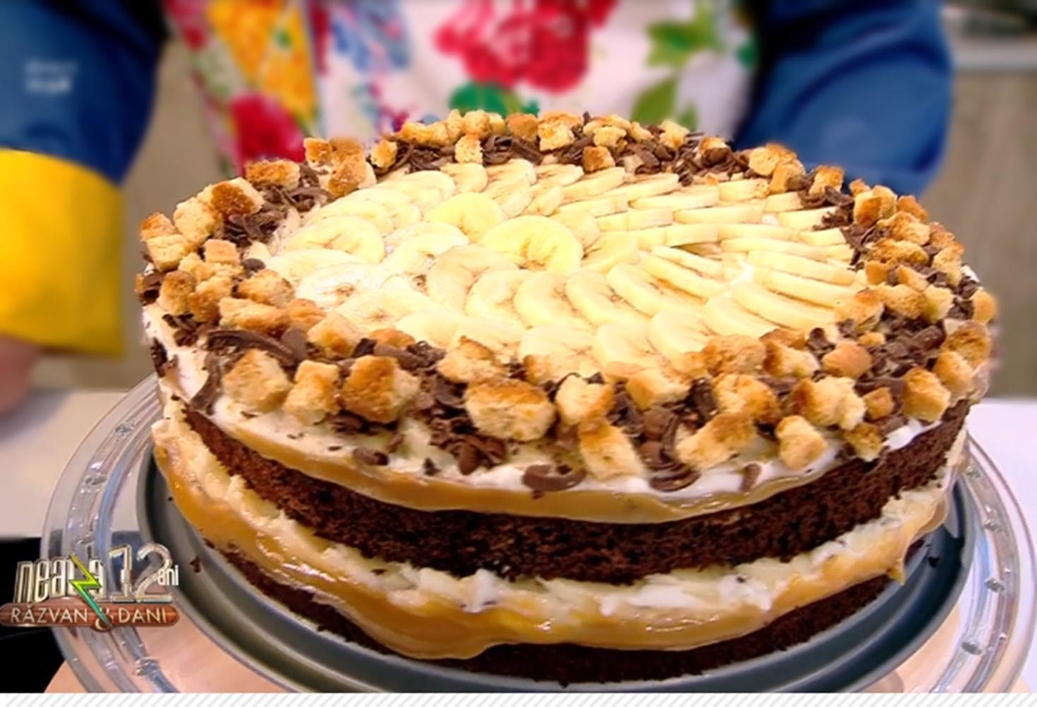 Special pentru o zi de sărbătoare, un delicios Tort Banoffee