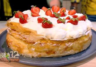 Rețetă de plăcintă cu iaurt, gustoasă și răcoroasă - rețeta lui Vlăduț