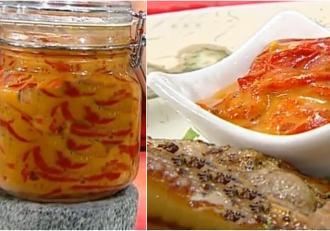 Rețetă de aperitiv din ardei copți cu sos de muștar și miere