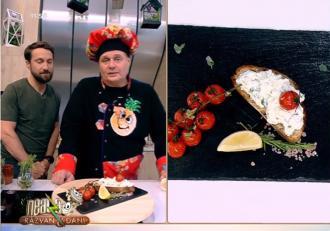 Gustare de vară cu brânzeturi și pâine aromatizată. Rețeta lui Vlăduț de la Neatza cu Răzvan şi Dani
