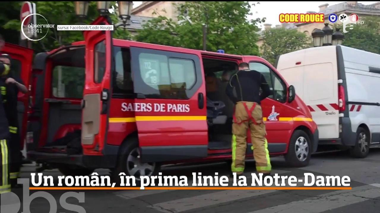 Ștefan, un român de 19 ani, erou în Franța, în timpul tragediei de la Notre Dame. Tânărul ajută acum la descoperirea cauzei incendiului
